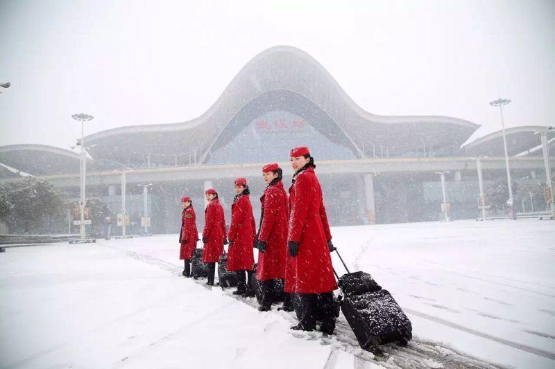 学员雪中风采